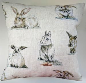 "Cushion Cover in Clarke & Clarke Rabbits 14"" 16"" 18"" 20"""